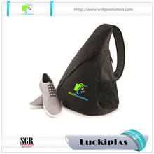Men and women sling bag shoulder with mesh pocket sling bag for sports