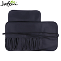 Classic black cosmetic makeup brushes roll bag pouch for girls