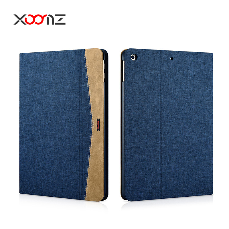 XOOMZ Simple Fabric Material Made Folio Cover Case for New iPad