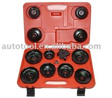 13pc. Cup Type Oil Filter Wrench Kit