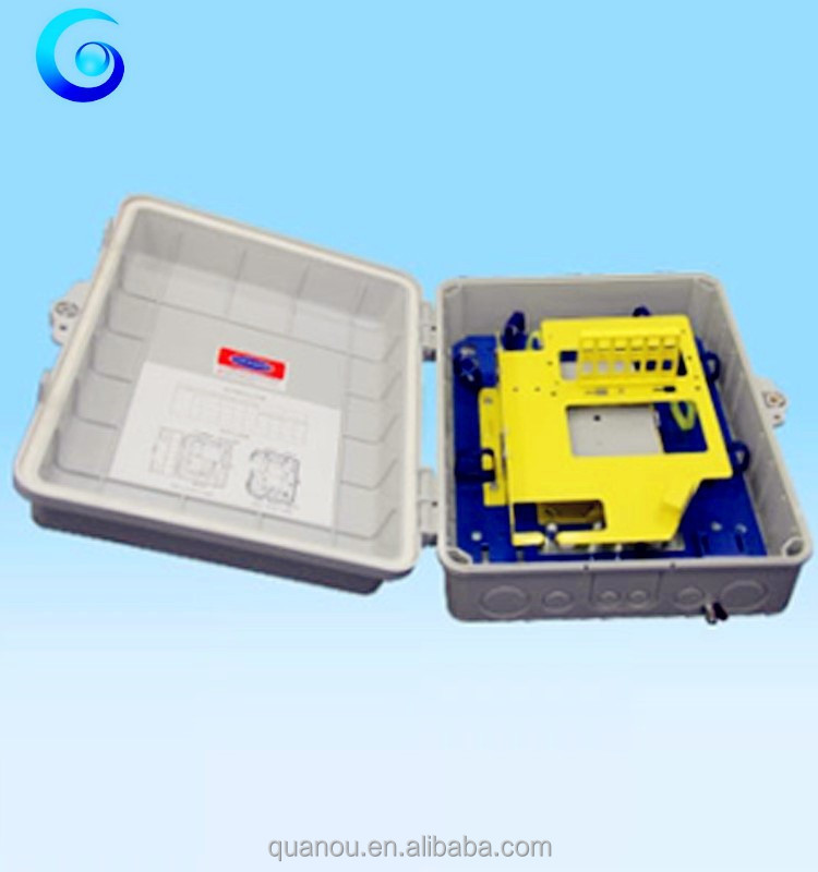 24 core Indoor optical fiber cable distribution box with splitter / cable disrtibution box
