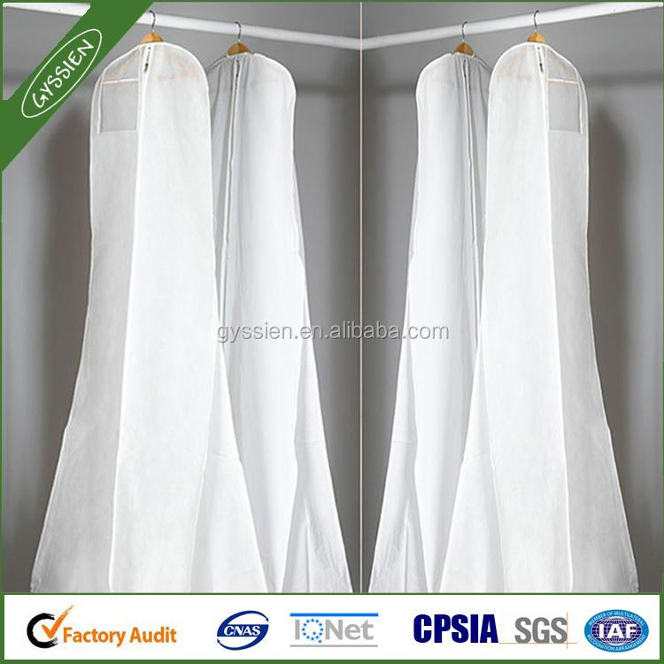 Hanging Clothes Dress Garment Bag, Cheap Nonwoven Suit Cover