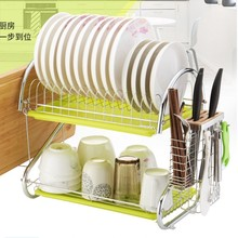 Home kitchen organizer basket Bronze Metal Wire Small Dish Drainer Drying Rack