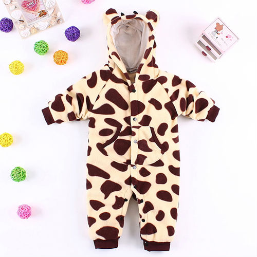 tc2052 baby clothes wholesale newborn animal costumes thick warm winter baby jumpsuit romper