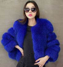 Women Winter Faux Fur Coat , Thicken Outerwear Colorful Jacket