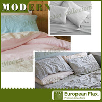 china supplier flax linen bedding / bed sheet / stock lot bed sheet