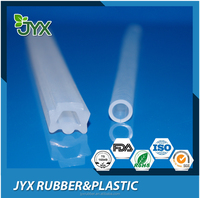 Extruded transparent abnormal silicone hose