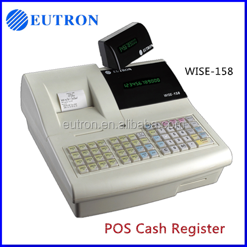 LCD display pos terminal cash register with paper roll manufacturer