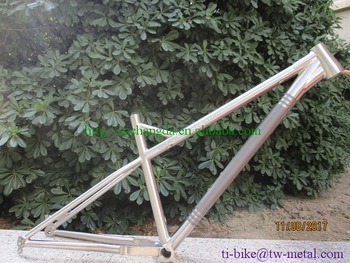Titanium Fat Bike Frame with tapered head tube Ti fat bicycle frame with 142x12 dropout Ti bike frame made in china