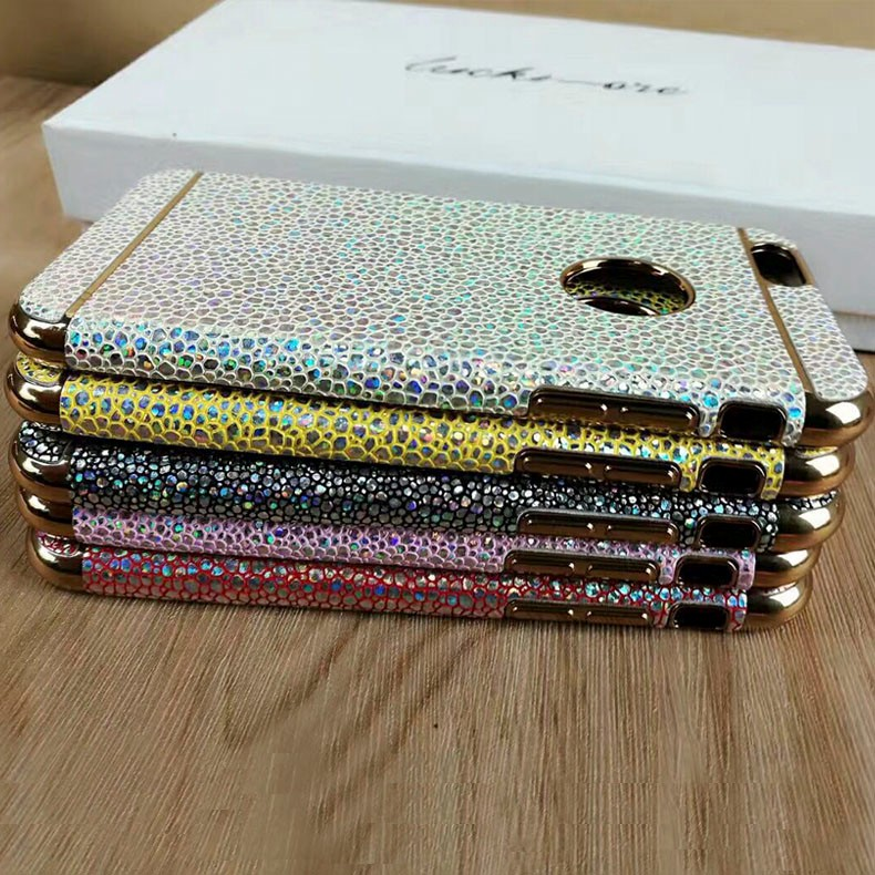 2017 Hot sales electroplate TPU Sequins full mobile case for iphone7plus TPU&PC