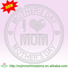 Mother's Day mom love you nailhead iron on transfers 8