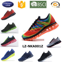 2016 new design high quatity full of air sole brand model running perfect flywoven running shoes men