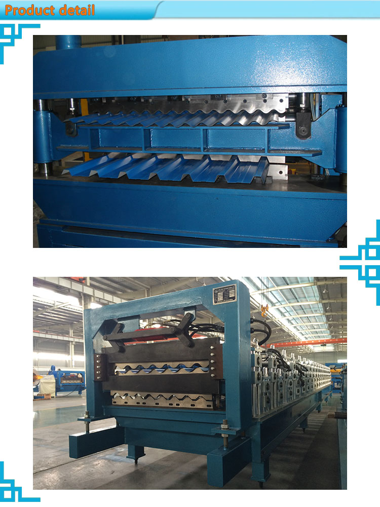 Double Layer Roll Forming Machine rollformers Metal Roofing Corrugated