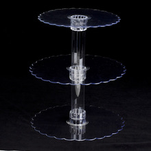 3 Tier Clear Acrylic Cupcake Display Stand