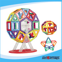 46Pieces DIY TOYS Free building colorful and safety kids magnetic building shape educational toy
