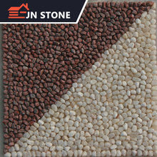 natural machine cut pebble flooring with tiles