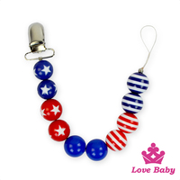 Wholesale Baby Colorful Plastic Pearl Design Pacifier Clip Mental Holder Teether Holder Baby Feeding Products