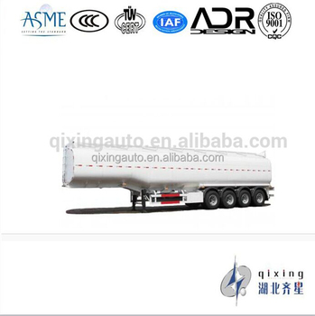 Steel Fuel Tanker Semi-Trailer 4 Axles Tank Capacity
