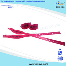 plastic material promotional wristbands ,disposable id wristbands,custom wristband