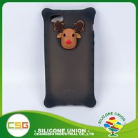 Practical products deer multiple colour silicone custom waterproof cell phone case