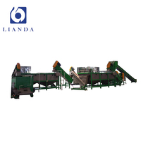 Different configuration pp pe waste plastic film recycling line