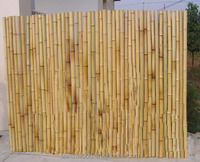 rolled natural bamboo fence
