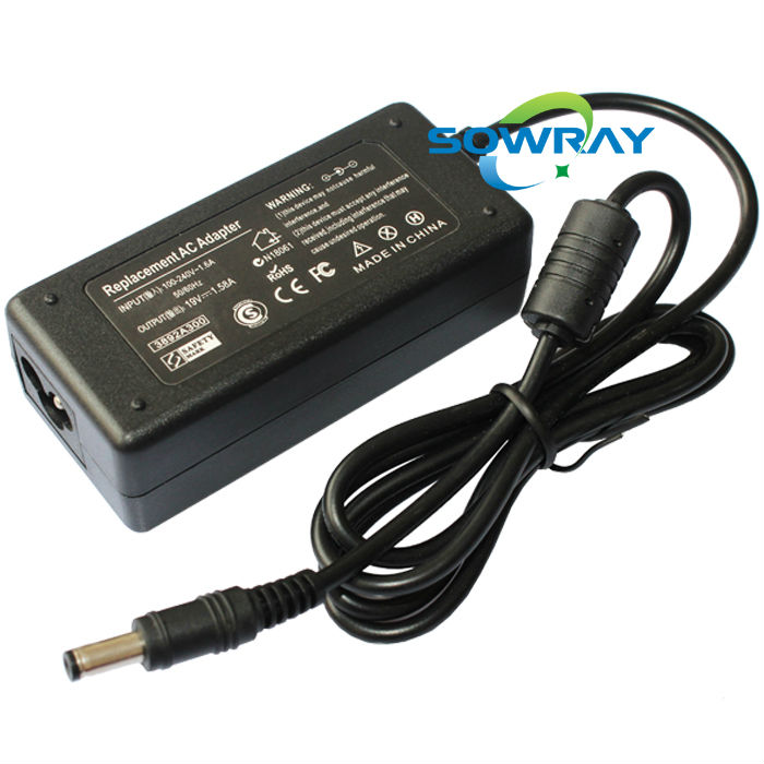 laptop adapter ac dc computer 19V 1.58A dc 5.5*2.5mm ac 100-240V for toshiba supply factory