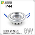 2016 Most New Products Top One Best Selling Cutout 83mm LED Downlight CRI>83 8W Dimmable COB LED Down light