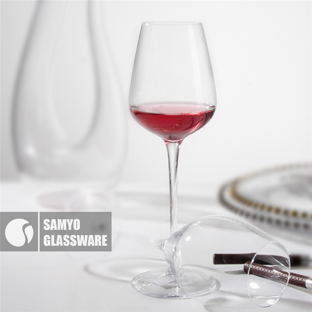 SAMYO Handmade crsytal glassware for table tulip shaped red wine glass
