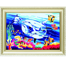 Fashion ocean world diy digital painting by number for wall decor