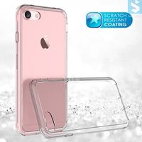 Soft TPU transparent acrylic combo cell phone plastic back cover for iphone 7 plus case