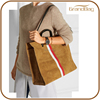 high quality suede leather travel tote bag cheap travelling pouch bag custom designer handbag