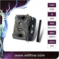 12MP 1080P waterproof IP54 digital invisible 940nm IR GPRS GSM MMS SMS hunting Trail camera