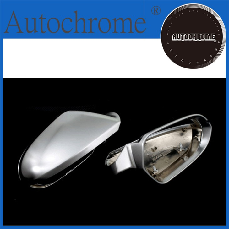 High Quality Auto Parts S line style silver matt chrome side mirror cap replacement For Audi a6 c7