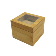 China supplier Gift wooden round shape bamboo watch box