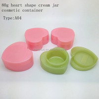 80g heart shape cream jar cosmetic container