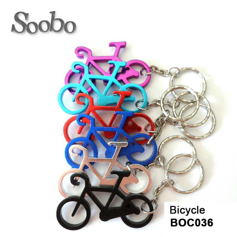 Bicycle keychain bottle opener, anodized aluminum keychain bottle opener wholesale,customized logo,blank bottle opener keychain
