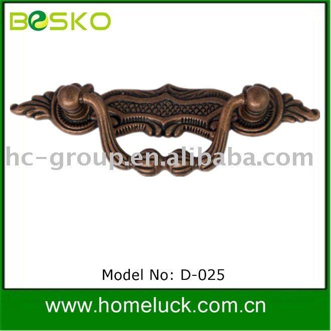 Hot style bronze classique poign e d 025 pour meubles for Bronze pour meuble de style