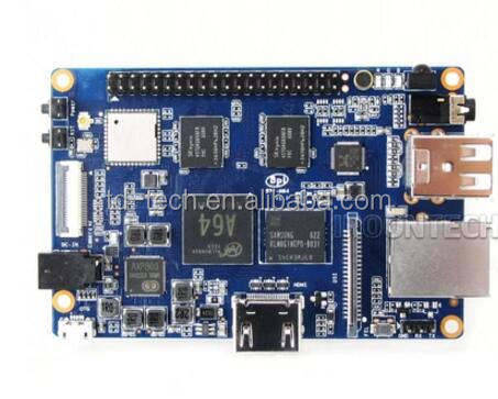 Quad core 64 bits 2GB DDR 8GB EMMC Bluetooth WIFI with antenna BPI-M64 banana pi M64 motherboard