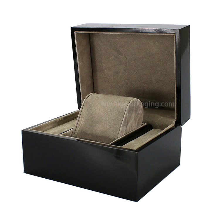 wooden lacquer matt finished luxury gift box watch