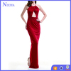 Wholesale Red Spaghetti Strap Criss Cross Back Party Maxi Dresses