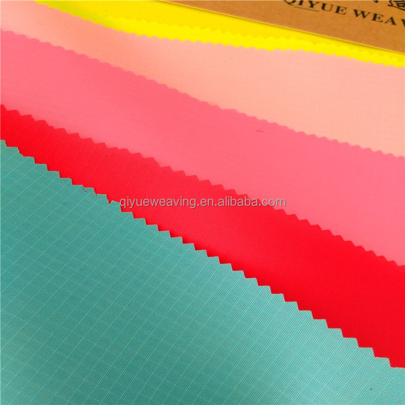 PU5000mm thin waterproof ripstop 210t 100 polyester oxford fabric with pu coating