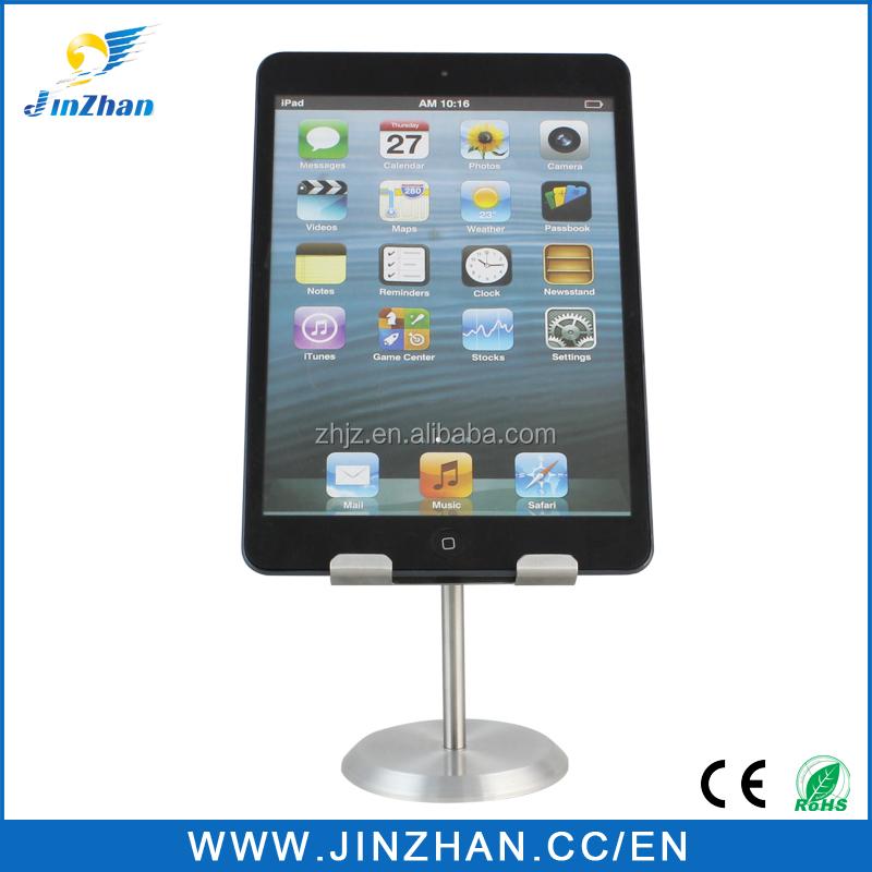 Customized metal table tablet display stand for personal tablet table standing