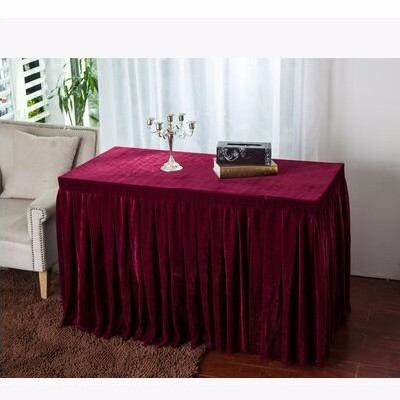 pleuche table skirt for meeting banquet