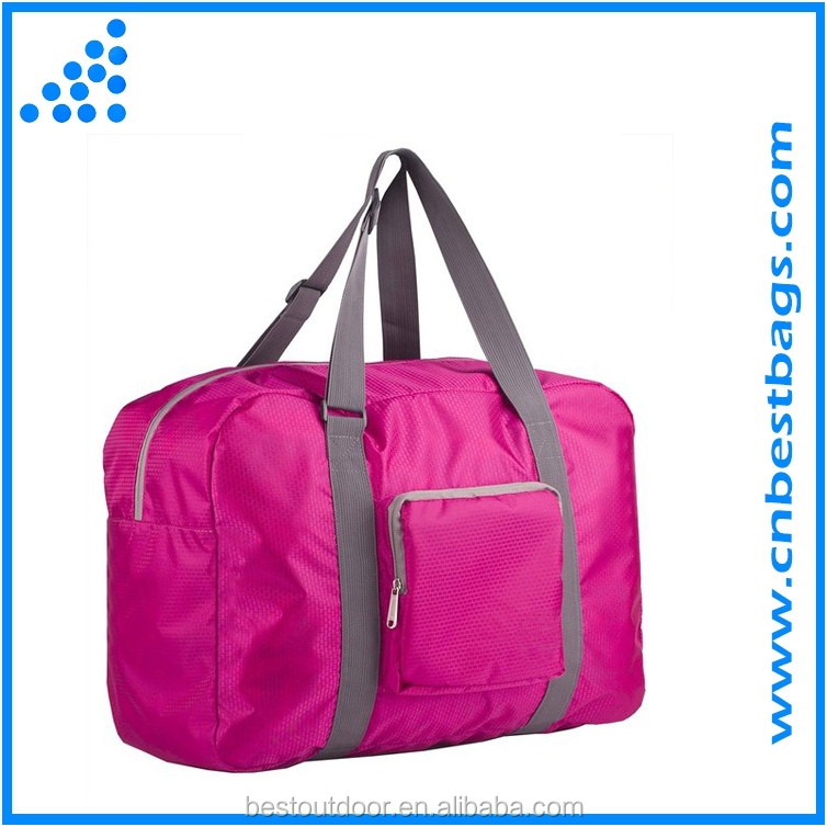 Folding Nylon Travel Duffel Bag for Luggage, Sports Gear or Gym