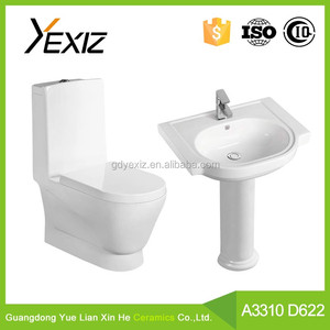 A3310 Cheap sanitary ware one piece toilet and basin bathroom ceramic toilet wc sizes