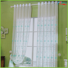 Yarn dyed organza embroidered sheer curtains