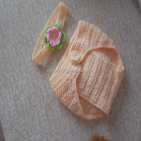 newborn decrative Crochet handmade Baby Pumpkin Hat and Diaper Cover set