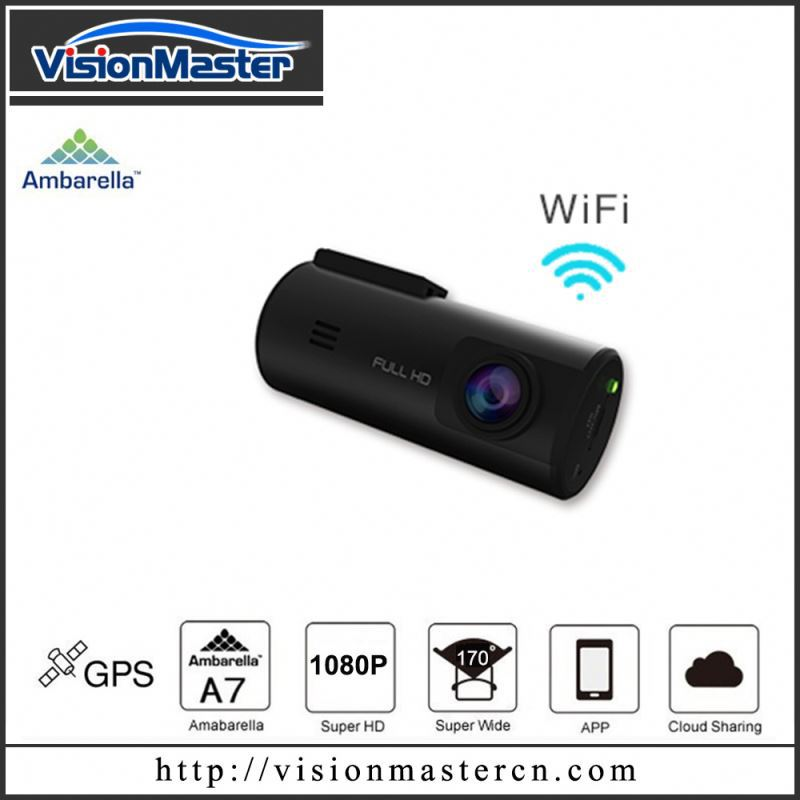 2015 new product fhd 1080p car dvr with WiFi And External GPS