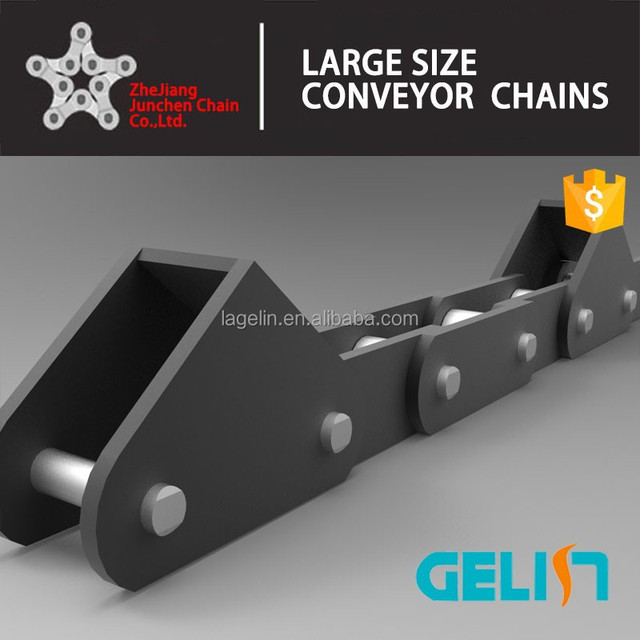 heat treatment conveyor agricultural chain with attachment